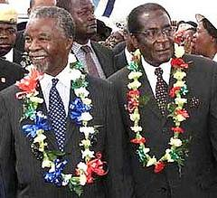 Thabo Mbeki and Mr Mugabe