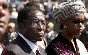 Robert Mugabe with wife Grace