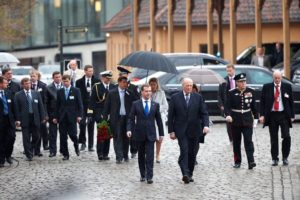 Dmitry Medvedev's two-day state visit to Norway has begun